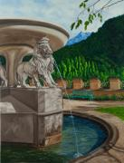 Germany Painting Originals - Lions of Bavaria by Charlotte Blanchard