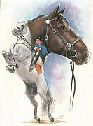 Spanish Riding School Posters - Lippizaner Poster by Barbara Keith