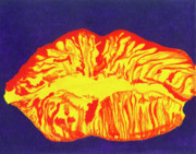 Lips  Paintings - Lips by Rishanna Finney