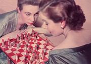 Chess Posters - Lipstick Check Poster by Chaloner Woods
