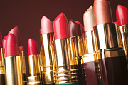 Make Up Photos - Lipstick tubes by Garry Gay