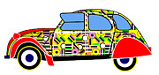 Liquorice All-sorts Digital Art - Liqourice Allsorts - Virtual Car by Asbjorn Lonvig