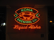 Kona Brewing Framed Prints - Liquid Aloha Framed Print by Bruce Borthwick