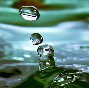 Droplet Prints - Liquid Emerald Print by  Paul St George