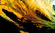 Earth Tone Painting Posters - Liquid Gold Poster by Eric Moore