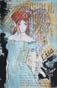 Lisa Mixed Media - Lisa fairy by Joanne Claxton