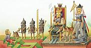 King Drawings Prints - Lisas Journey 07 Print by Kestutis Kasparavicius