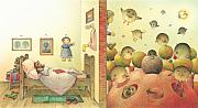 Bird Drawings Metal Prints - Lisas Journey04 Metal Print by Kestutis Kasparavicius