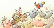 Sleep Drawings - Lisas Journey13 by Kestutis Kasparavicius