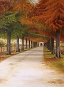 Winery Paintings - Lisas Way by Kirk Graham