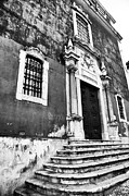 Old School House Photos - Lisbon Church Steps by John Rizzuto