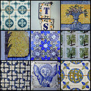 Collages Acrylic Prints - Lisbon Tiling by Roberto Alamino
