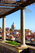 Typical Framed Prints - Lisbon View Framed Print by Carlos Caetano