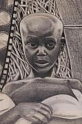 African-american Drawings - Listen To My Eyes by Malik Seneferu