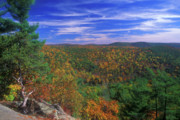 Litchfield Hills Prints - Litchfield Hills Foliage Print by John Burk