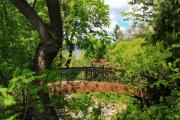Pathway Digital Art - Lithia Park Bridge by James Eddy