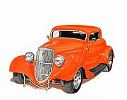 Classic Hot Rods Prints - Little 33 Print by Jack Pumphrey