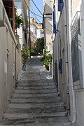Little Alley - Samos Print by Christiane Schulze