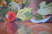 Reflection Harvest Paintings - Little Apple by Shirley McMahon