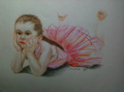 Adorable Pastels - Little Ballerina by Carol Spitko