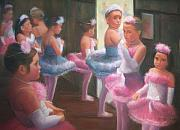 Ballet Originals - Little Ballerinas Backstage at the Recital by Diane Caudle