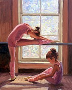 Ballerinas Posters - Little Ballerinas Poster by Roelof Rossouw