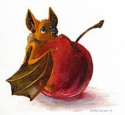 Bat Mixed Media Originals - Little Bat by Lauren Wilson
