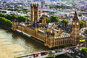 Parliament Prints - Little Ben Print by Andrew Paranavitana