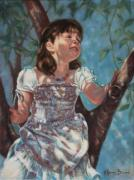Little Girl Originals - Little Bird Watcher by Harvie Brown
