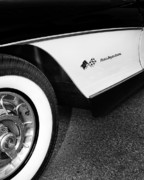 White Walls Metal Prints - Little Black Corvette Metal Print by William Dey