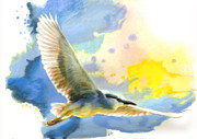 Science Fiction Pastels - Little Blue Heron by Janice Lawrence