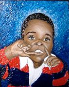 Keenya Woods Mixed Media Metal Prints - Little Boy Blue  Metal Print by Keenya  Woods