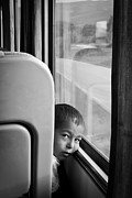 Portret Art - Little Boy Traveller by Jim Perpetos