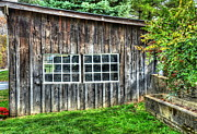 Shed Metal Prints - Little Brown Shed Metal Print by Debbi Granruth