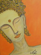 Claudia Tuli Metal Prints - little Buddha Metal Print by Claudia Tuli