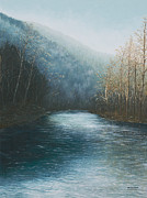 Buffalo River Paintings - Little Buffalo River by Mary Ann King