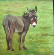 Burro Metal Prints - Little Burro Metal Print by John  Reynolds
