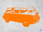 Car Prints Digital Art Posters - Little bus Poster by Irina  March