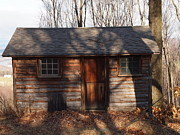 Farm In Woods Photographs Photos - Little Cabin In The Woods by Robert Margetts