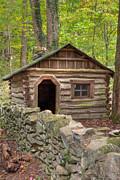 Little Cabin On Little River Print by Charles Warren