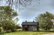 Outhouses Photos - Little Cabin on the Prairie by Deborah Smolinske