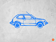 Kids Prints Metal Prints - Little Car Metal Print by Irina  March