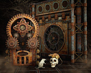 Steampunk Digital Art Digital Art - Little Chat by Jutta Maria Pusl