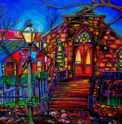 Riverwalk Paintings - Little Church at La Villita II by Patti Schermerhorn