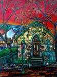 Riverwalk Posters - Little Church at La Villita Poster by Patti Schermerhorn