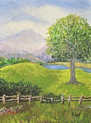 Little Country Scene Too Print by Reb Frost