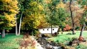 Oak Creek Photo Originals - Little Covered Bridge New Hampshire Fall by Sharon Blanchard