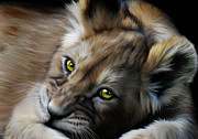 Big Cat Digital Art - Little Cub by Julie L Hoddinott