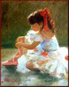 Portofino Italy Artist Paintings - Little dancer by Depaoli