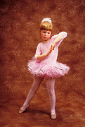 Pink Dress Framed Prints - Little dancer Framed Print by Garry Gay